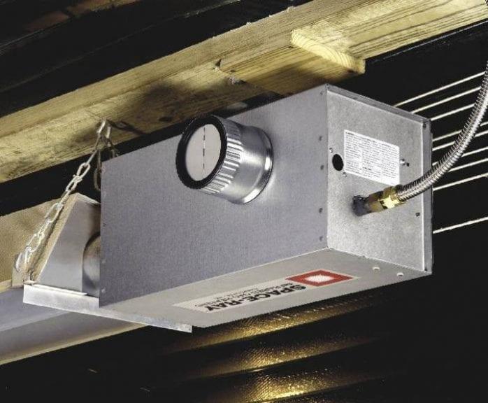 Space-Ray compuertas para calentadores