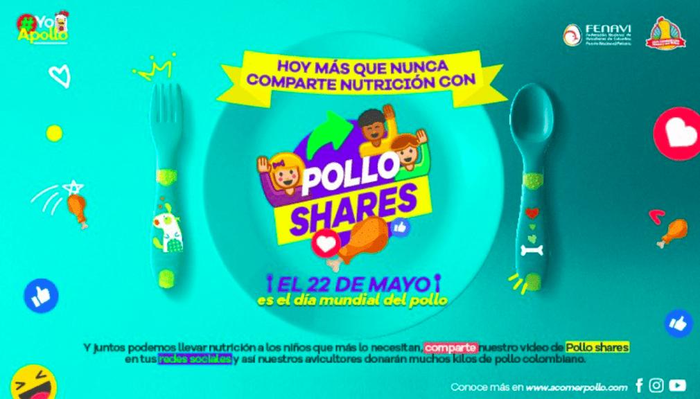 Colombia: donan alimentos en el Día Mundial del Pollo